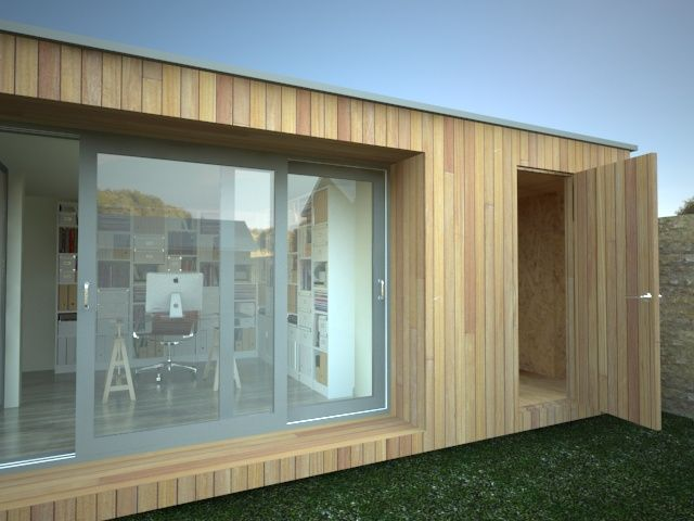 Attractive Garden Office With Shed