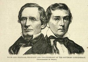 Newly Elected President Jefferson Davis and Vice President Stephens, Confederate States of America