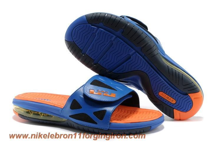 Superhero Nike Air LeBron 2 Elite Slide Sandal Hyper Blue Bright  Citrus-Black Outlet