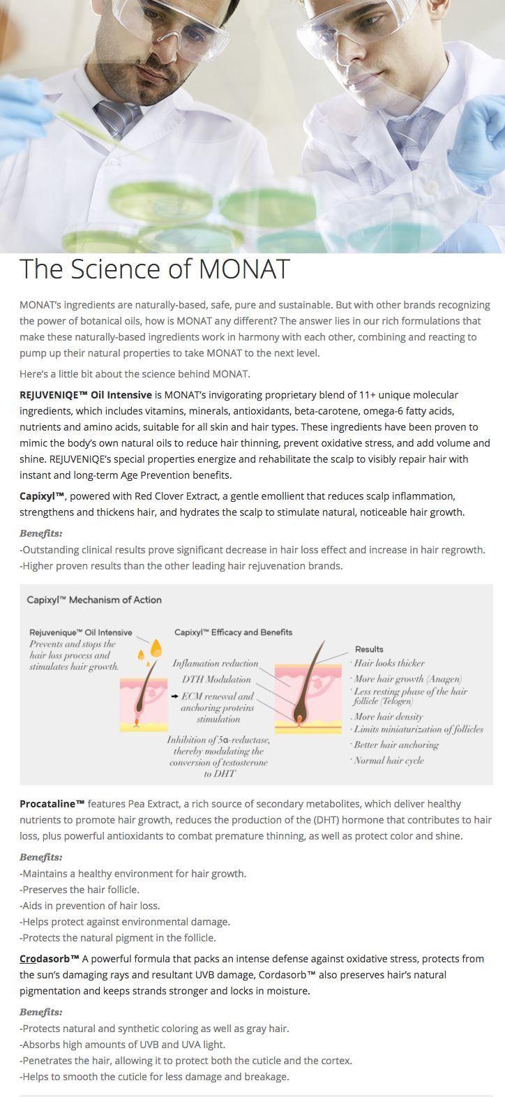 Science Behind Monat Monat Hair Monat Monat Ingredients