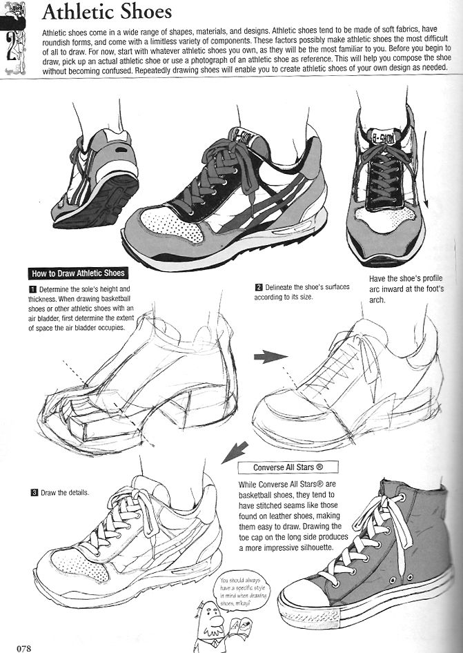 Tutorial on how to draw Athletic Shoes for your character