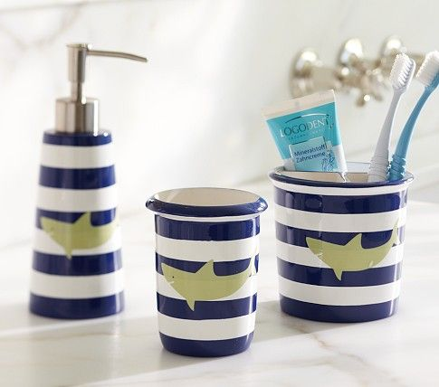 Bought This Toothbrush Holder For Boys Shark Bath Accessories Pottery Barn Kids