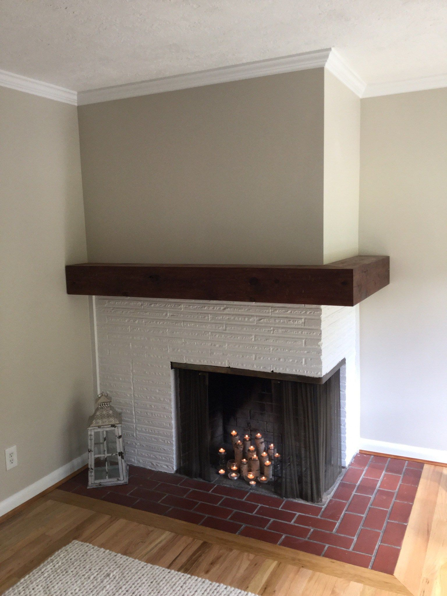 DIY RUSTIC FIREPLACE MANTEL (With images) Corner