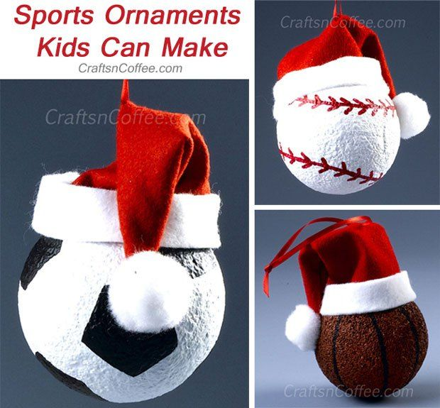 DIY Christmas Sports Ornaments (It Would Be Easier And