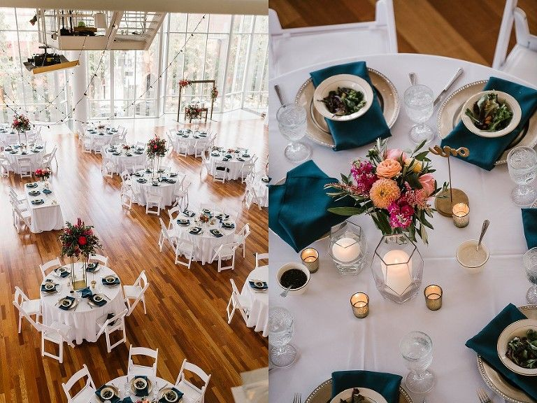 Colorful Columbus Indiana wedding at the Commons Indiana