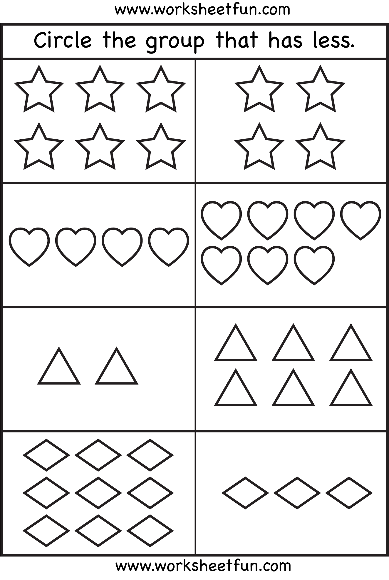 worksheet More Or Less Worksheets Preschool more or less math activities pinterest maths daycare ideas comparison worksheets 2 free printable worksheets