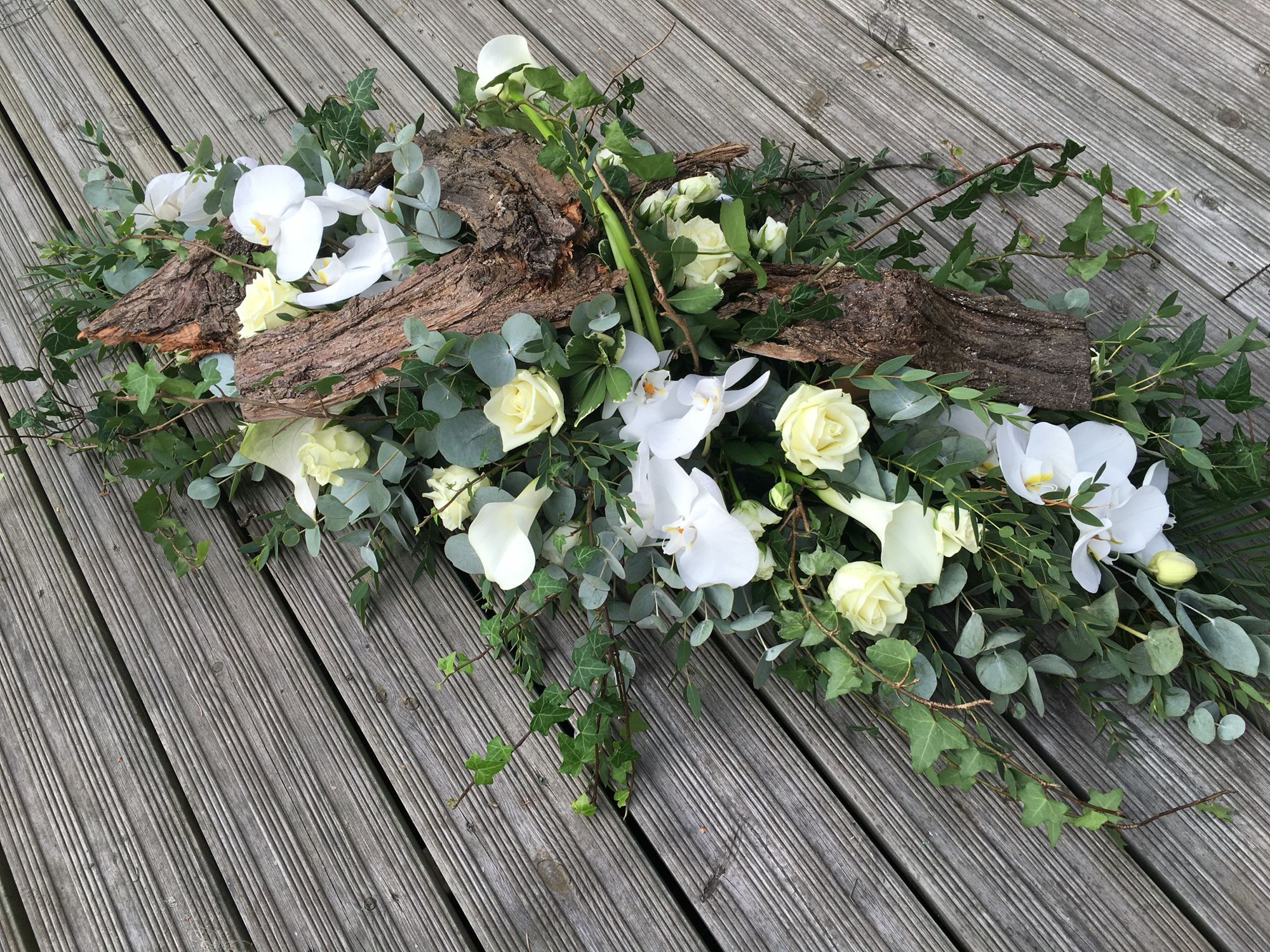 33 best casket sprays images on pinterest funeral flowers woodland flowers rustic funeral flowers thefloralartstudio izmirmasajfo Choice Image
