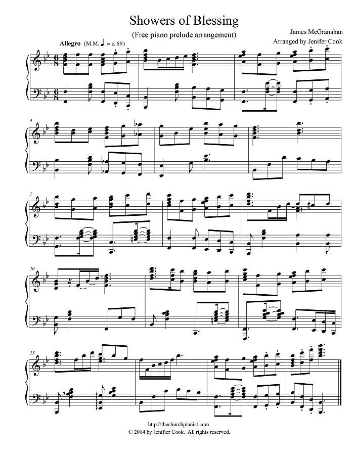 free offertory piano sheet music
