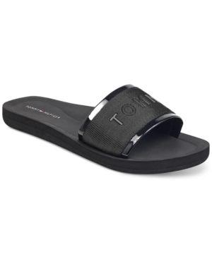 2f18bdbca104 Tommy Hilfiger Women s Mery Slide Sandals - Blmfb 11M