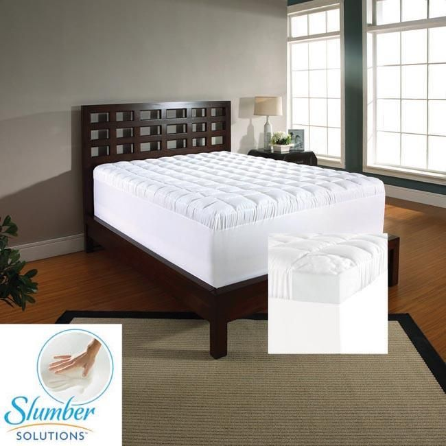 Slumber Solutions 4 Inch Memory Foam And 1 5 Inch Fiber Mattress Topper Mattress Furniture Mattress Mattress Dimensions