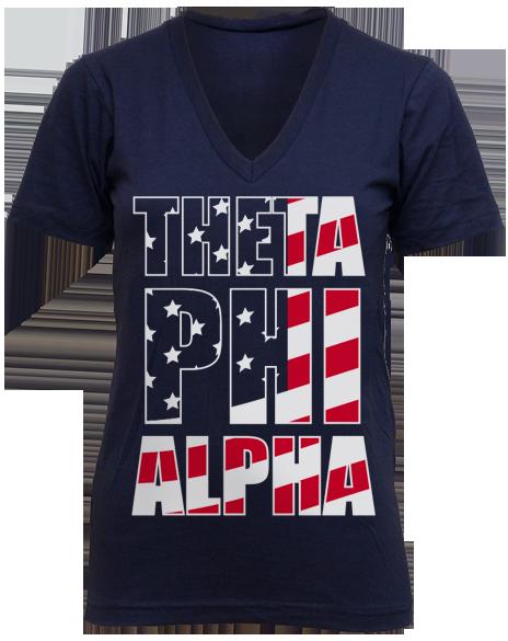 Theta Phi Alpha All-American Vneck by Adam Block Design | Custom Greek Apparel & Sorority Clothes | www.adamblockdesign.com