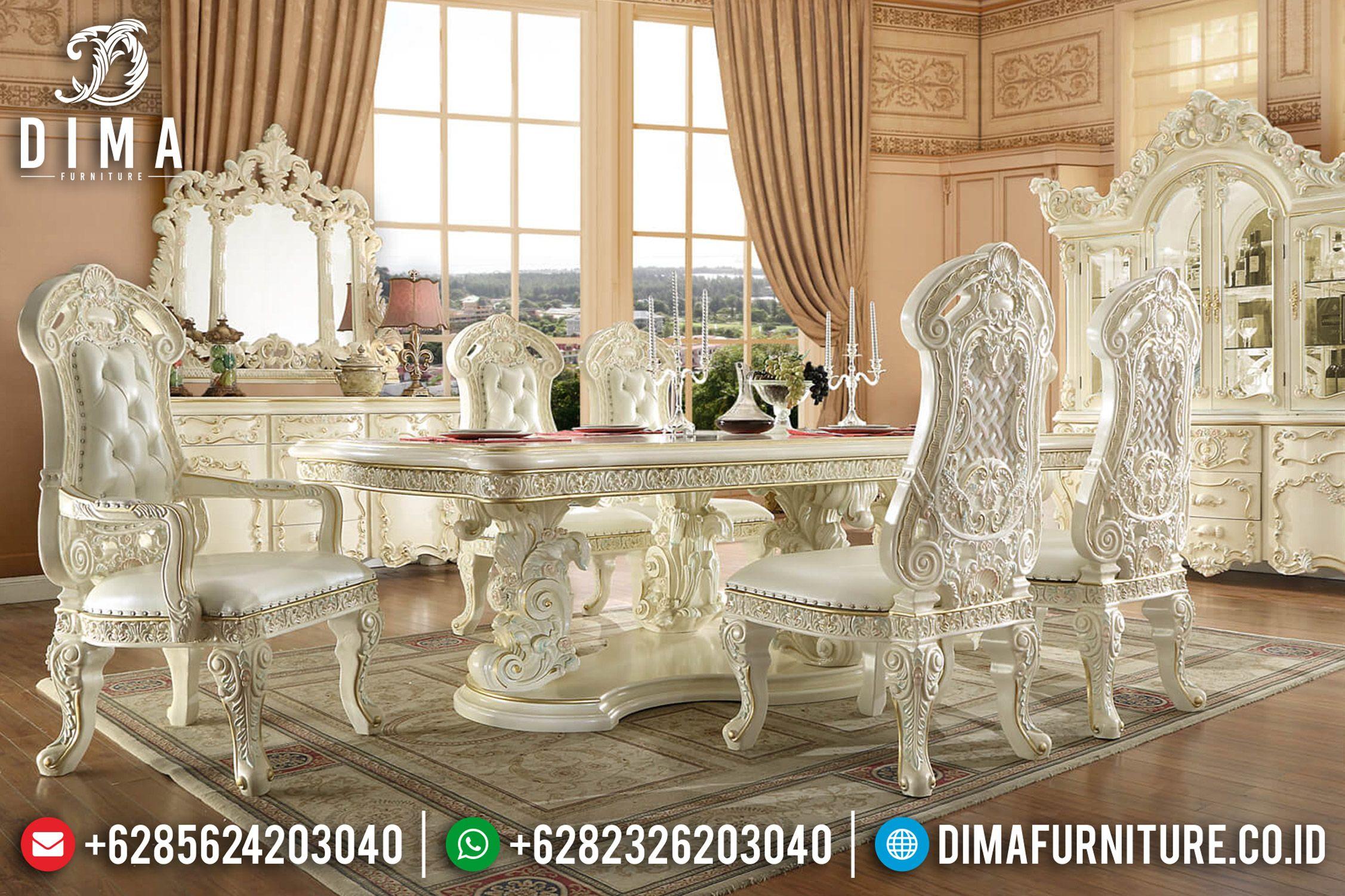 Set Meja Makan Mewah Meja Makan Jepara Kursi Ruang Makan Klasik