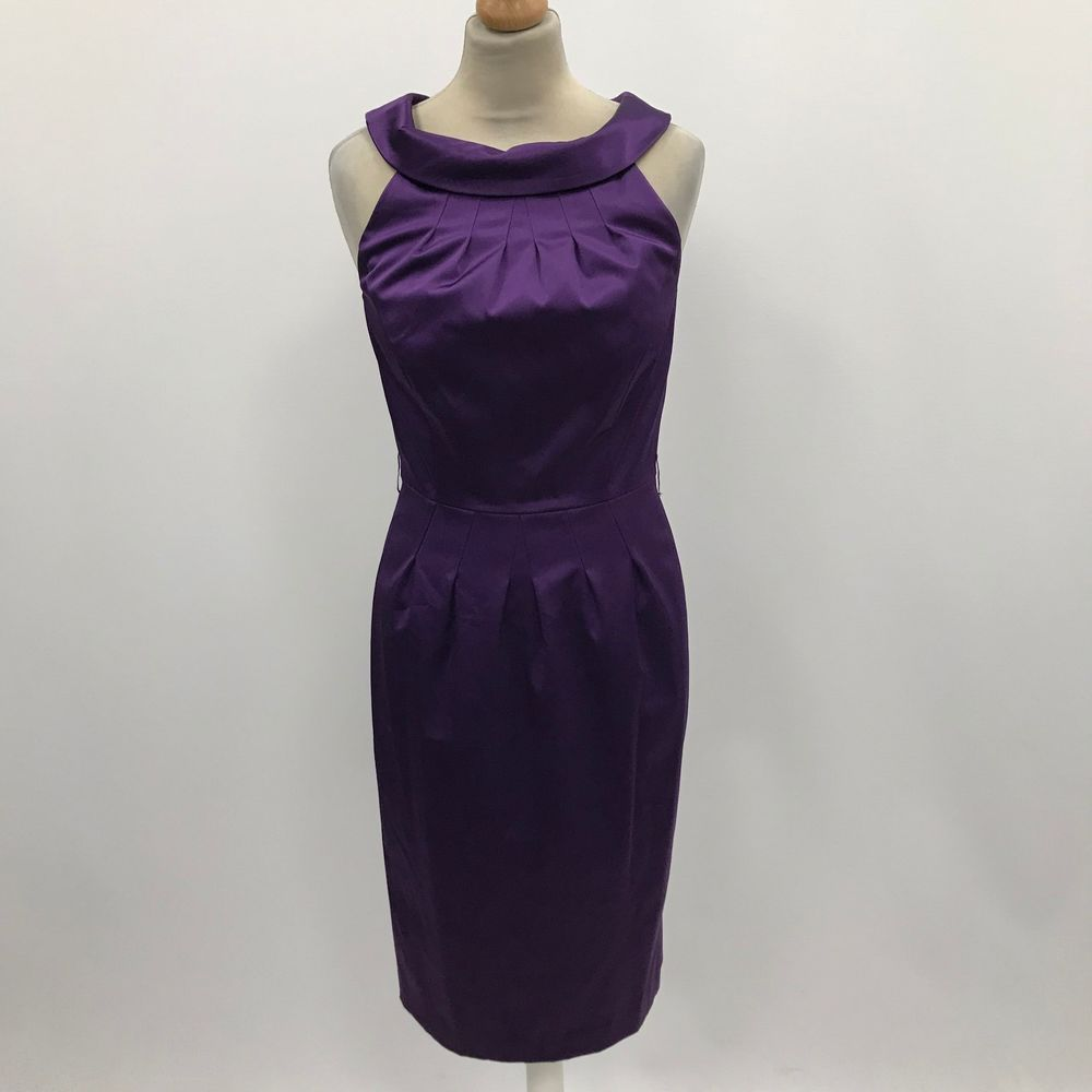 Austin Reed Purple Dress Evening Funky Party Dressy Trendy Chic Satin Uk 8 3181 Fashion Clothing Shoes Accessories Wo Dresses Evening Dresses Purple Dress
