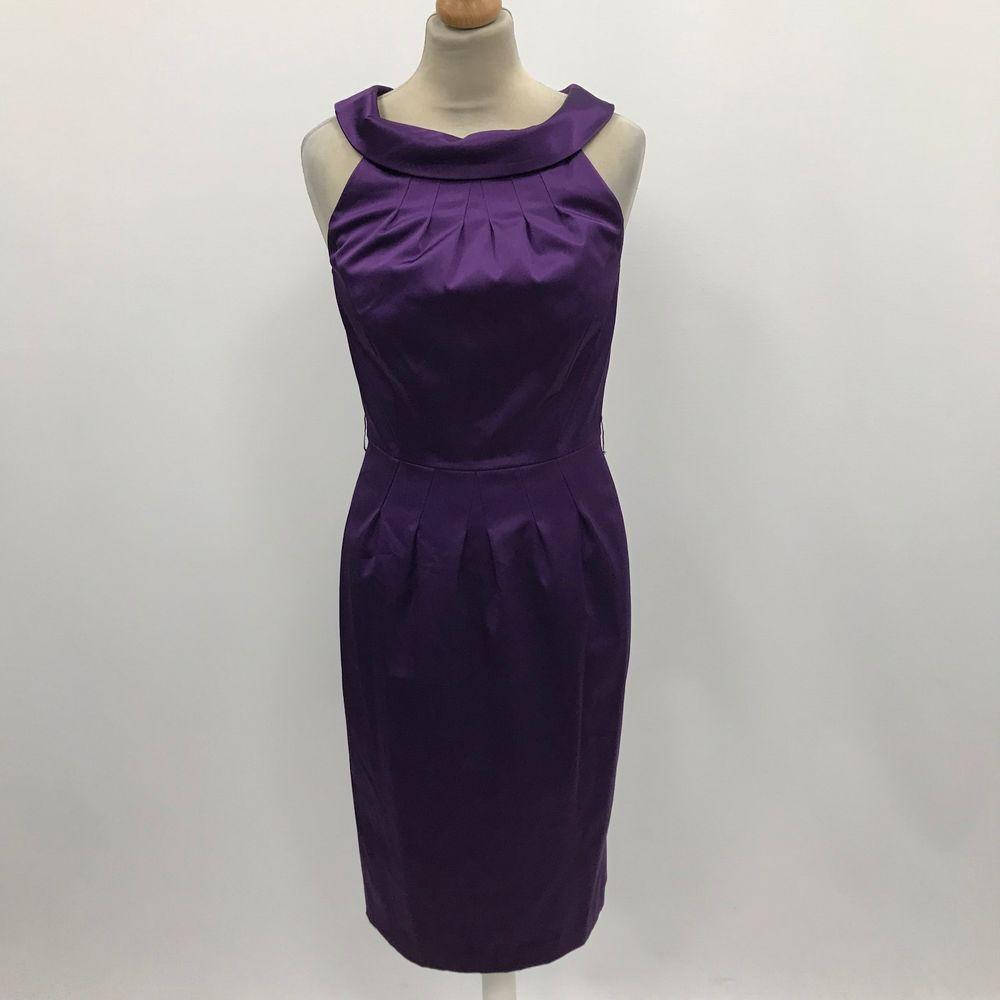 Austin Reed Purple Dress Evening Funky Party Dressy Trendy Chic Satin Uk 8 3181 Fashion Clothing Shoes Accessories Womensclot Dresses Purple Dress Fashion
