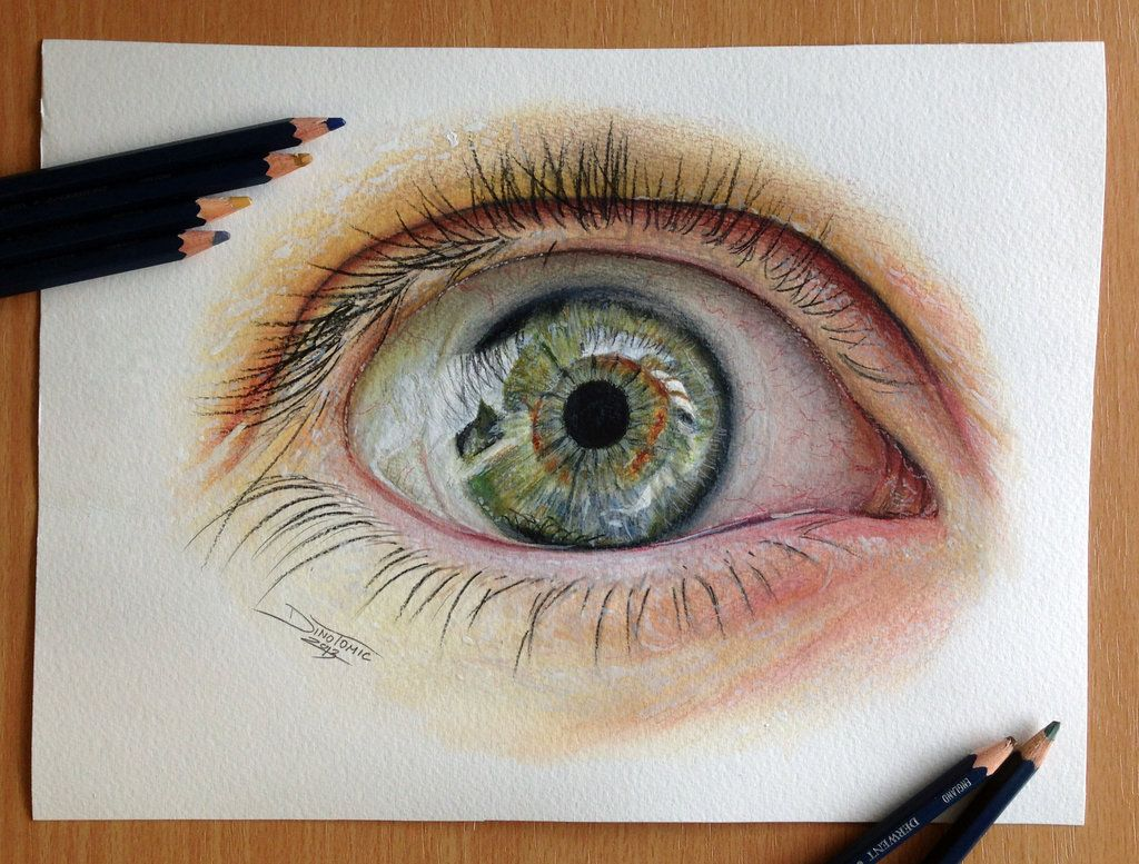 eye color pencil drawing by atomiccircus on deviantart - Color Drawings