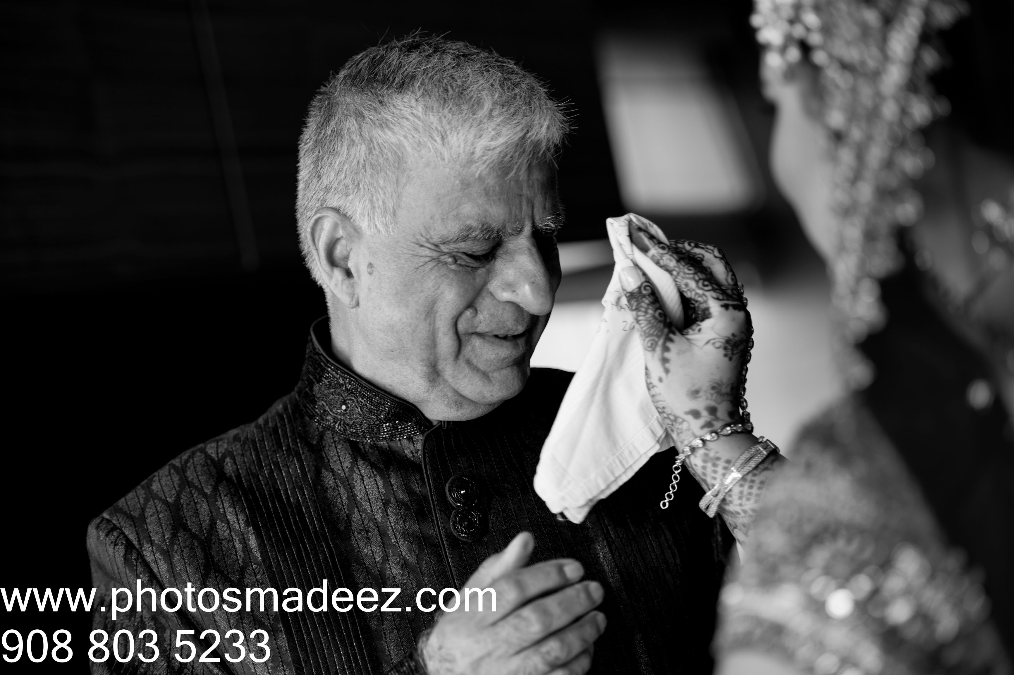 Father - Daughter emotional moment in Indian Wedding in Hyatt Jersey City, NJ with SV Bridal Concepts, Sanjana Vaswani, Best Wedding Photographer PhotosMadeEz, Award winning photographer Mou Mukherjee. Punjabi wedding, Punjabi Bride,  Candid moment... photo journalism. #subinandmehak