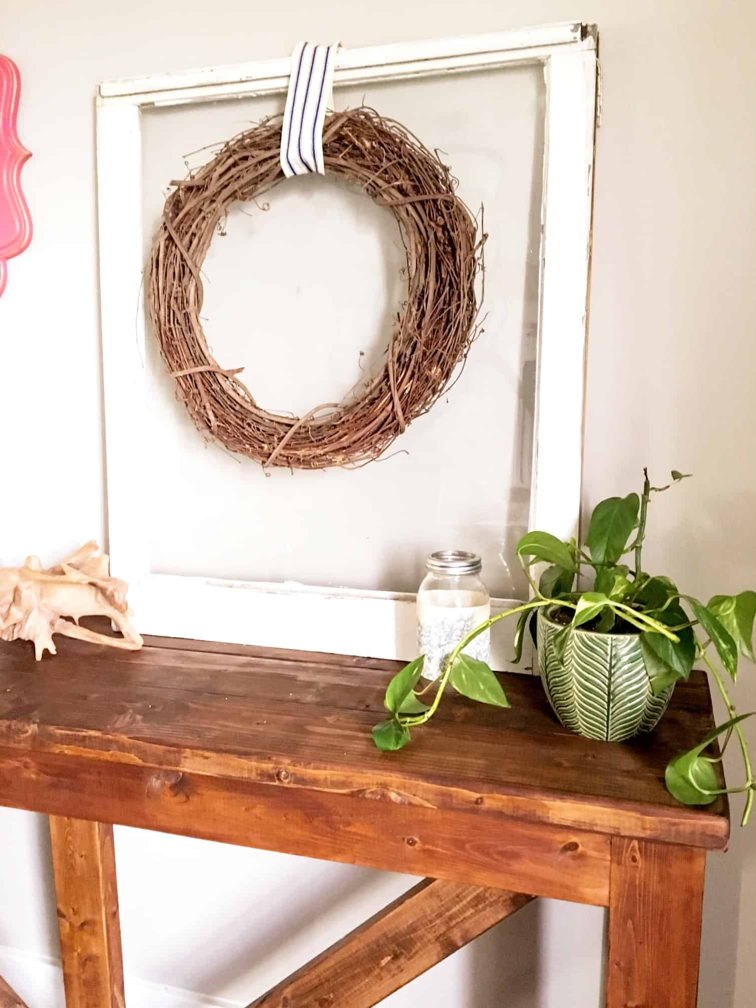 Diy console table out of 2x4s a turtles life for me