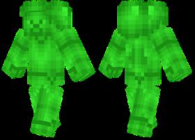 Minecraft Skins Emerald Steve Skin Png Image With Transparent Background Png Free Png Images Minecraft Skins Minecraft Emerald