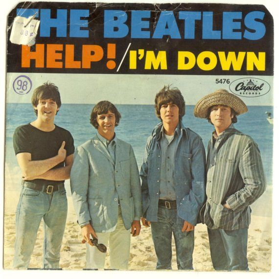 The Beatles 45s picture sleeves   BEATLES 45 RECORD and Picture Sleeve, Help/I'm Down, 1960s, Vintage ...