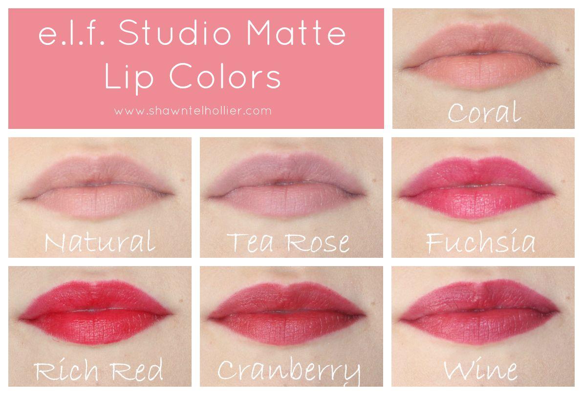 e.l.f. Matte Lip Color Lip Swatches