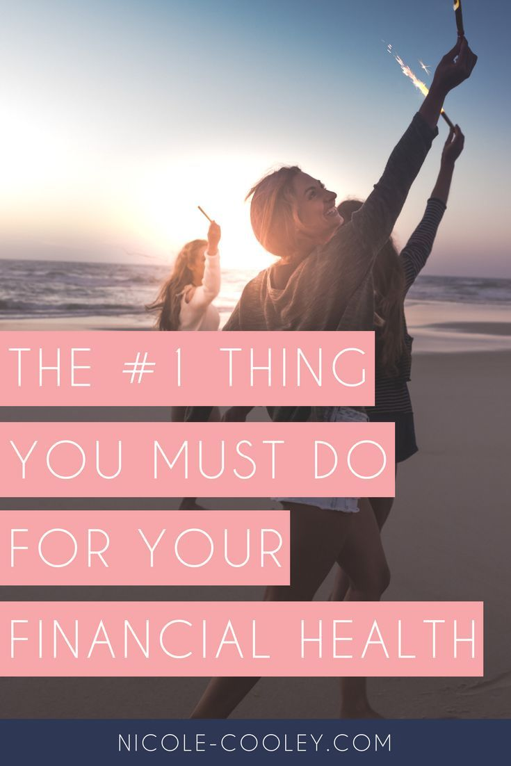 The 1 Thing You Can Do For Your Financial Health Budgeting Finances Budgeting Managing Your Money