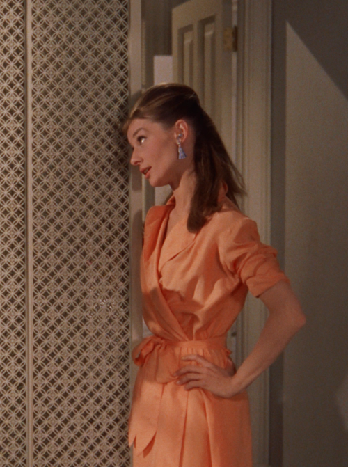 c10bb1a22966 Breakfast at Tiffany s (1961) Audrey Hepburn as Holly Golightly would  Givenchy also designed the night gowns
