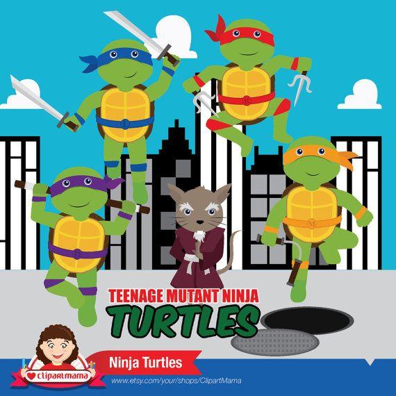 Teenage Mutant Ninja Digital Clipart