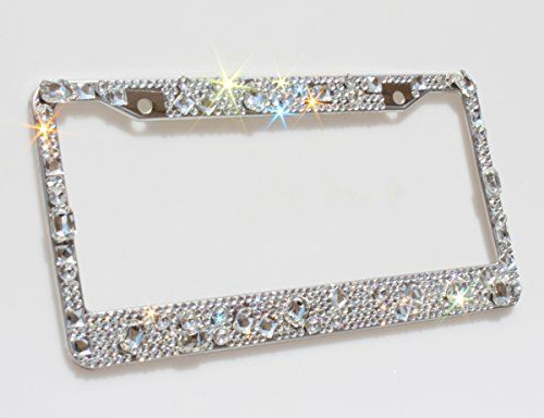 Super sparkling crystal license plate frame, click to have a look!!!