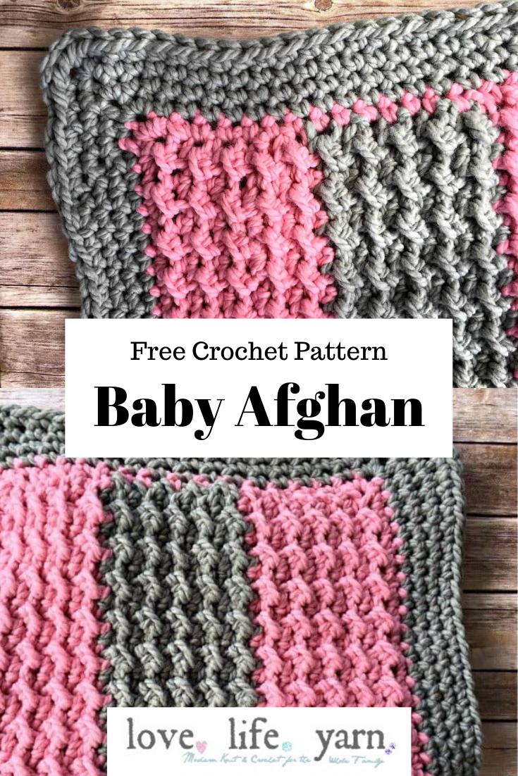 Easy Weekend Baby Blanket   Free Crochet Pattern   love. life ...