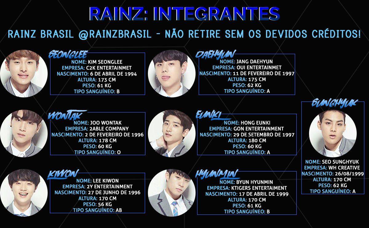 Rainz Brasil Rainzbrasil 22 De Ago Mais Conheca Os Integrantes Do Boygroup Rainz Kpop Idol