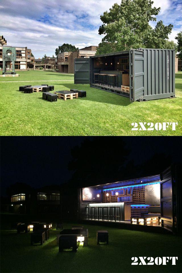 Unser Barcontainer gebaut auf Basis eines Open-Side Containers. Entwickelt mit der Berliner Agentur dreinull Mehr unter http://www.twotimestwentyfeet.com/portfolio/dreinull-barcontainer/