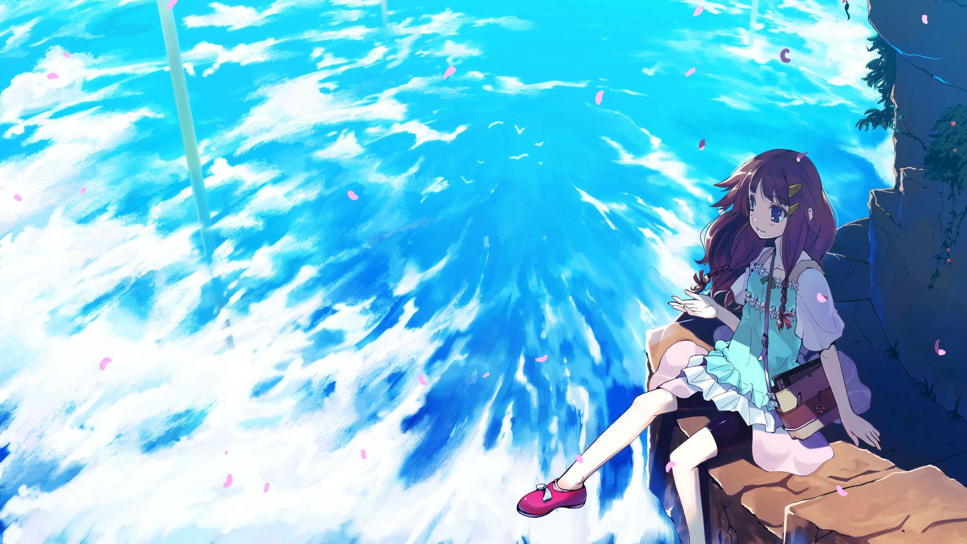 Anime Summer Wallpaper Tim Với Google Anime Scenery Anime Scenery Wallpaper Anime Wallpaper 1920x1080 Anime summer wallpaper hd