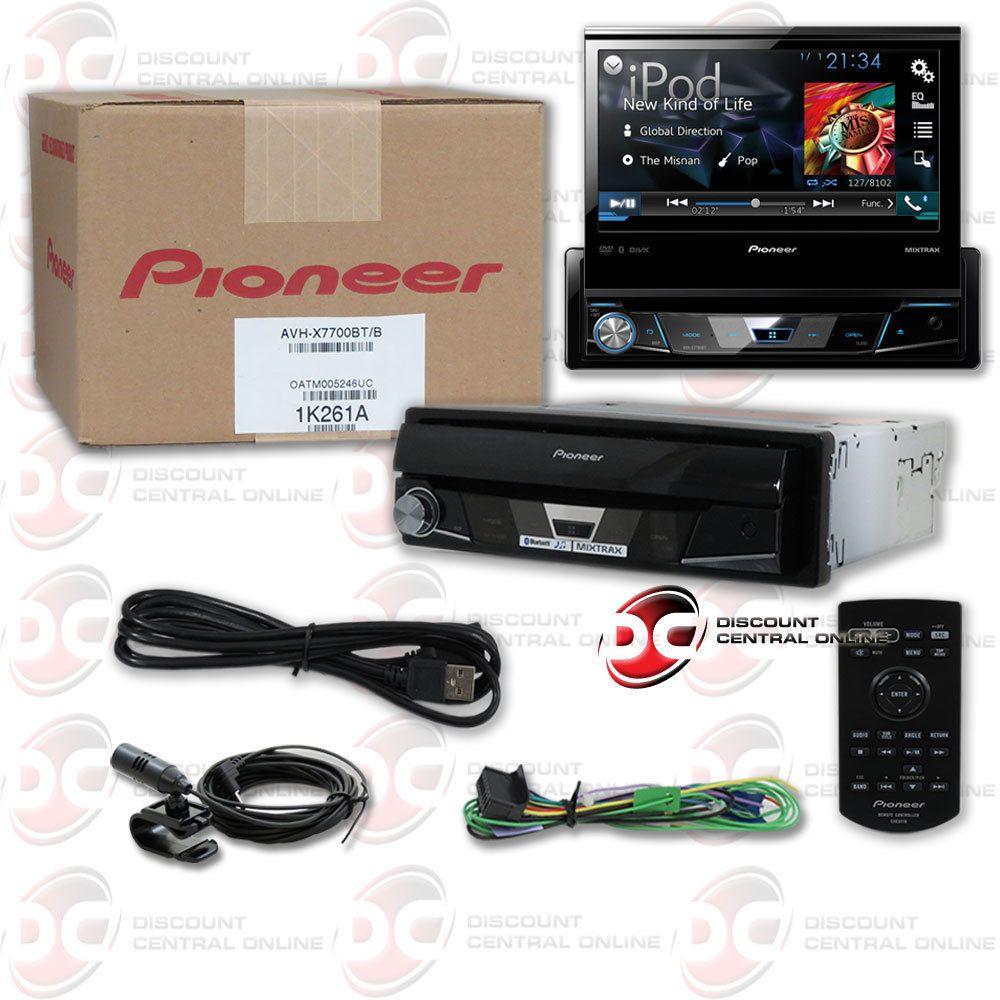 """PIONEER AVH-X7700BT 7"""" FLIP OUT TOUCHSCREEN CAR DVD CD PLAYER BLUETOOTH  PANDORA #Pioneer"""