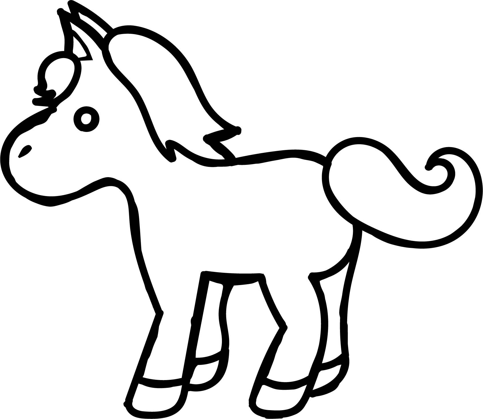Awesome Small Cartoon Horse Coloring Page Horse Coloring Horse Coloring Pages Animal Coloring Pages [ 1464 x 1689 Pixel ]