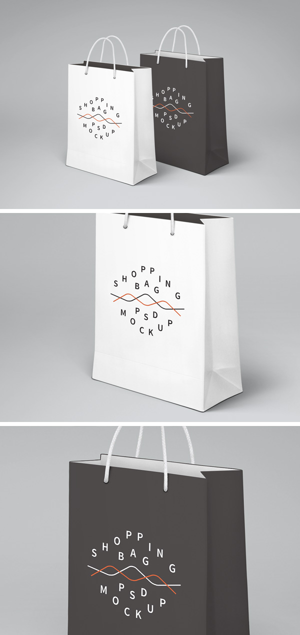Shopping Bag Psd Mockup Graphicburger Papiertaschen Illustrator Design Papier