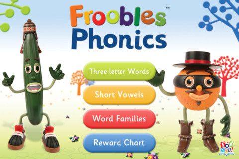 Froobles Phonics ($0.99) helps children learn to read by understanding the sounds that letters make. Encourage your child to match the words and pictures to help them quickly master three-letter words, short vowels and word families!  • Intuitive scrolling operation.  • Reward chart function to help you set clear attainment goals for your child.  • 3-letter words, Short Vowels and Word Families learning modes.  • Rewards sound FX.  • Learning by word, letter, picture and colour association.