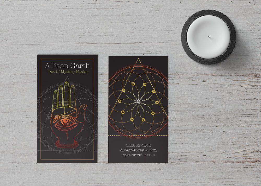 Business Card Template Khamsa Fortune Teller Witch Tarot Etsy Business Card Template Spiritual Business Card Card Template