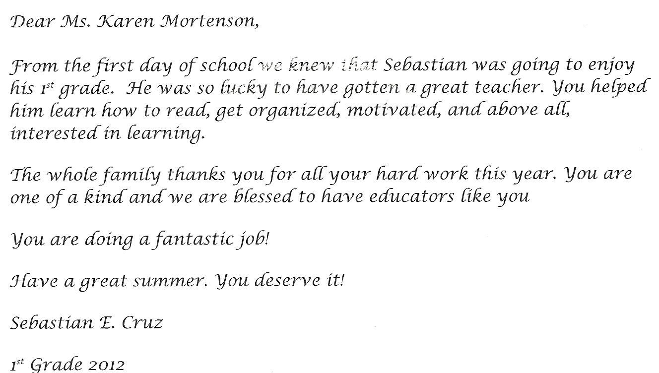 Note Sample Thank You Interview Letter School Principal After