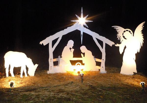 Pretty Nativity Scene Photo
