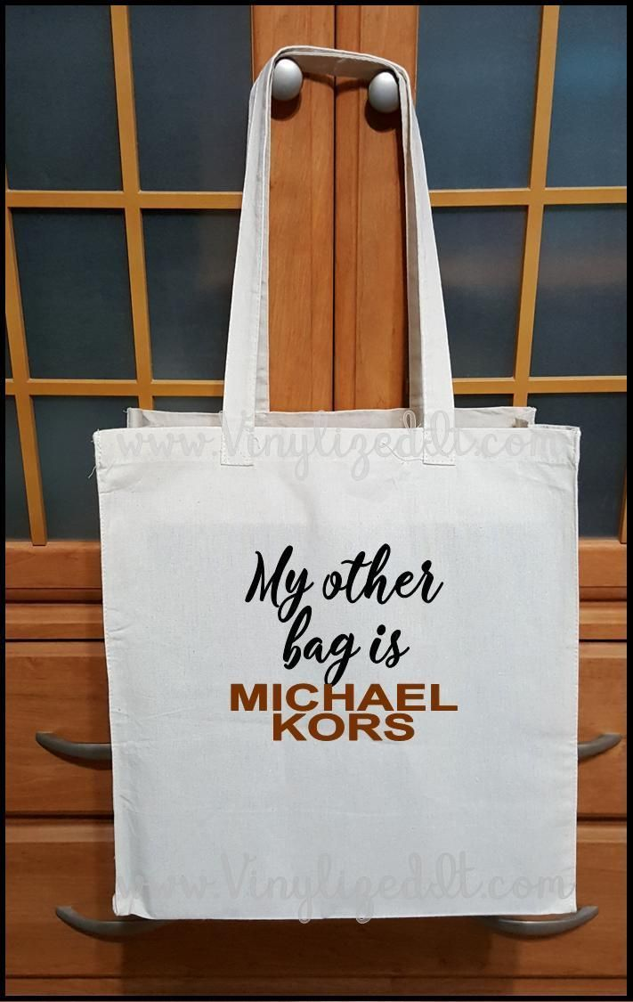 2194cad7833f My Other Bag is Michael Kors - Canvas Tote Bag My Other Bag