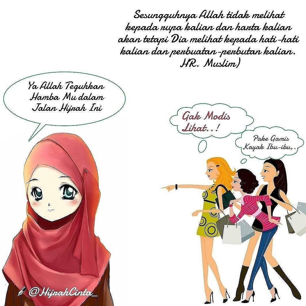 Foto Kartun Muslimah Pake Cadar  Top Gambar