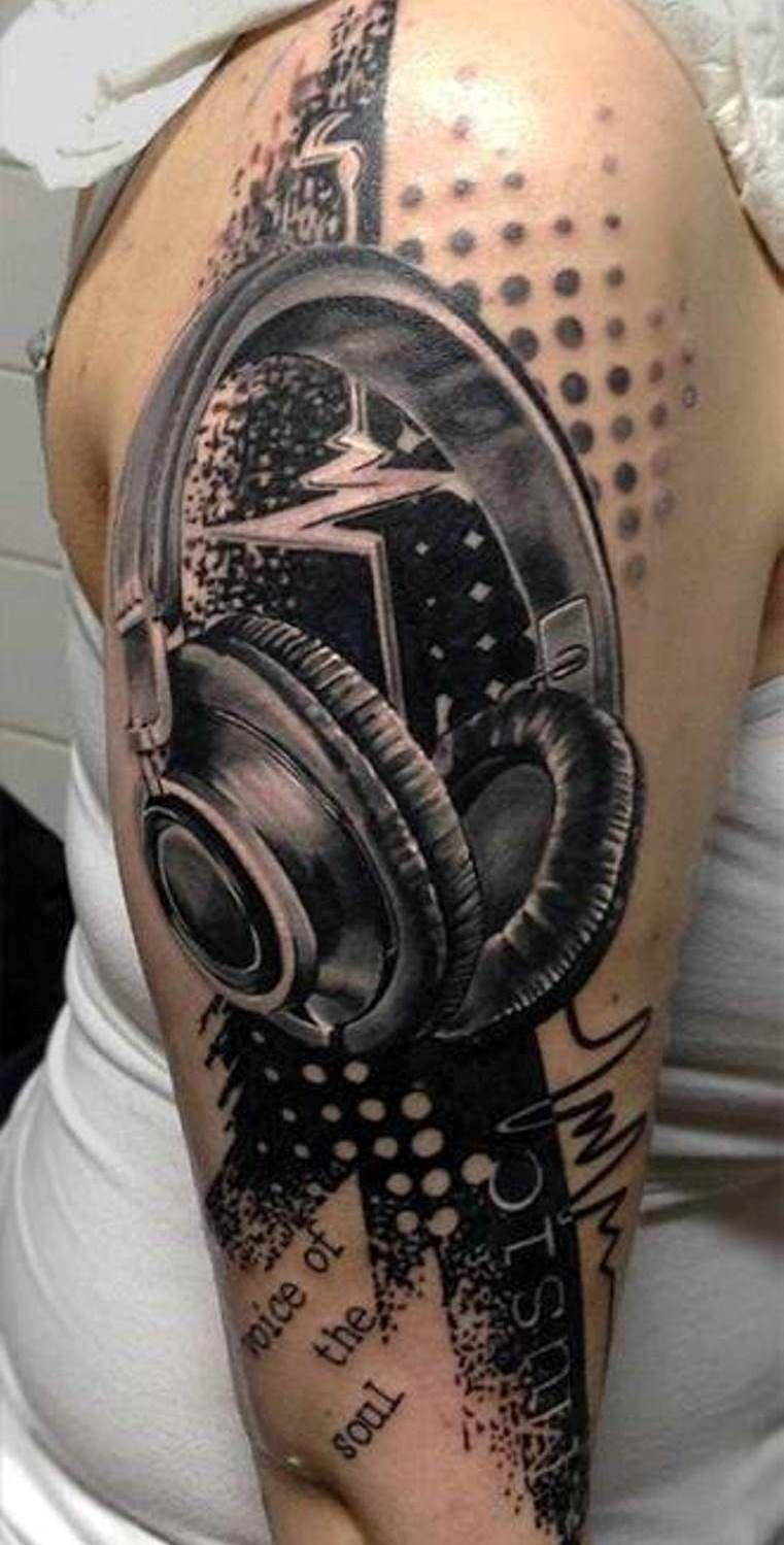 Music Sleeve Tattoo Half sleeve tattoos designs, Cool