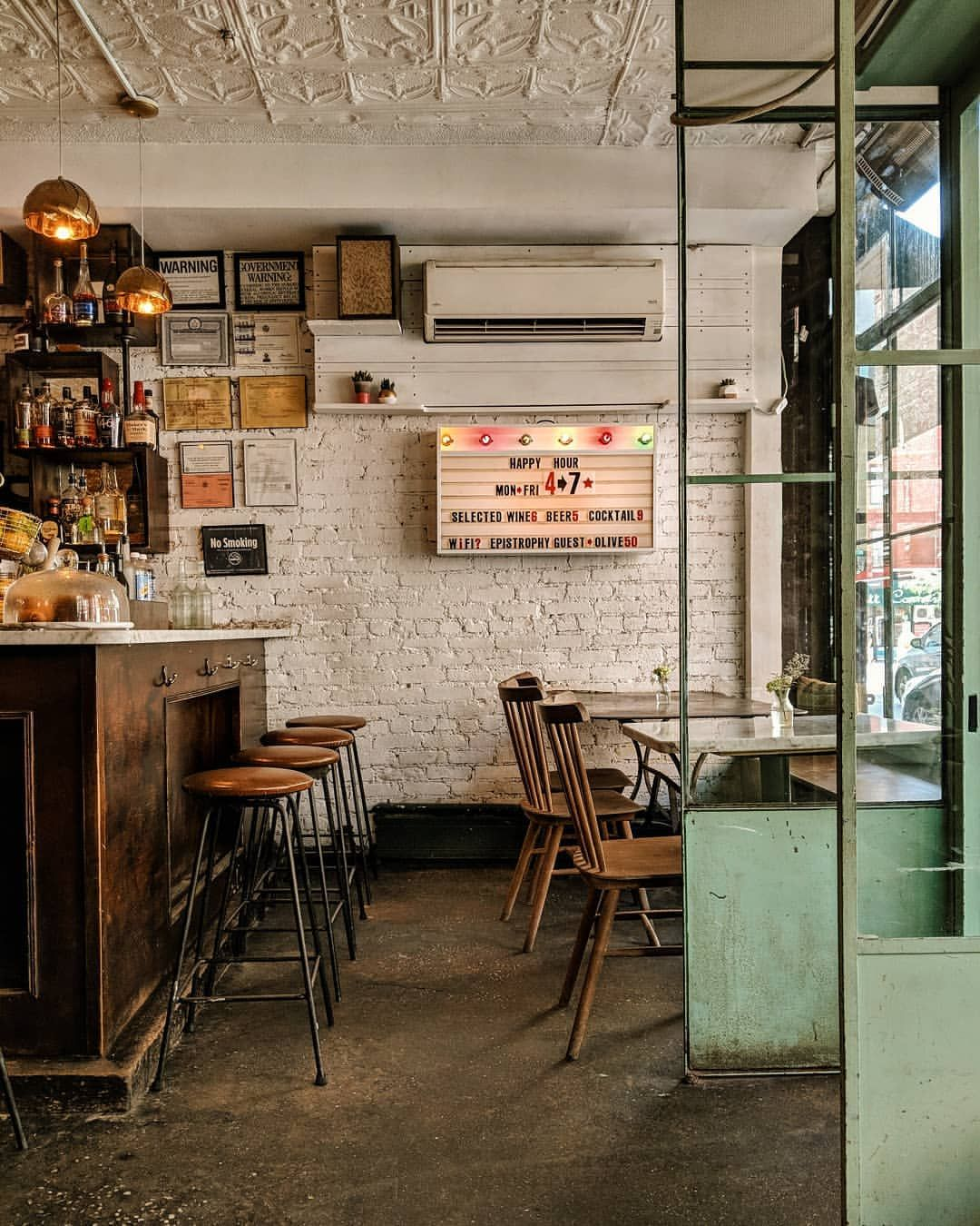 Epistrophy New York Cafe Interior Design Coffee Shop Decor Coffee Shop Design