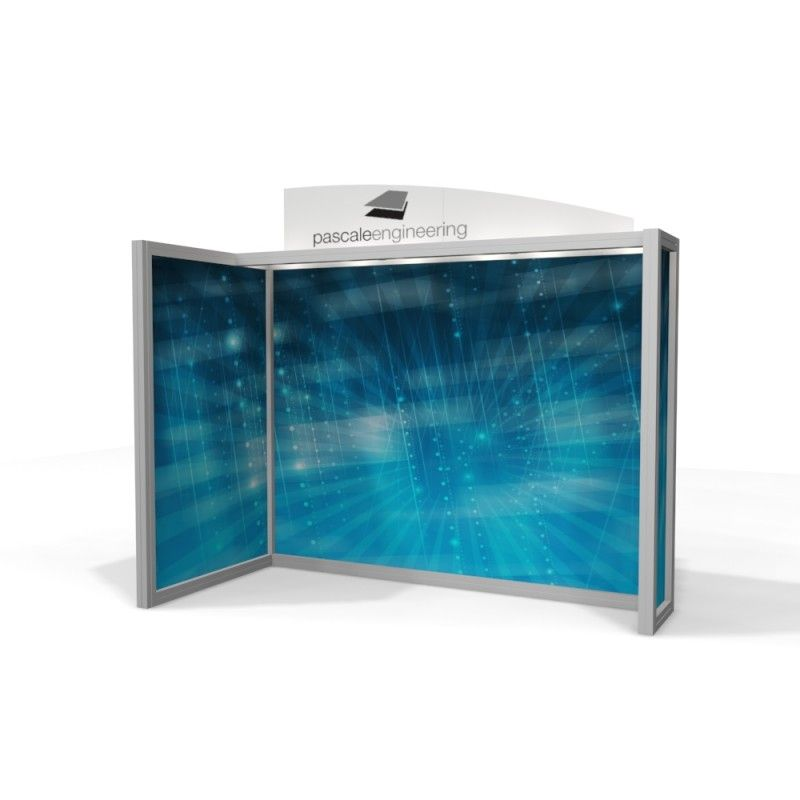 10x10 Corner Style Modular Trade Show Display Booth Features