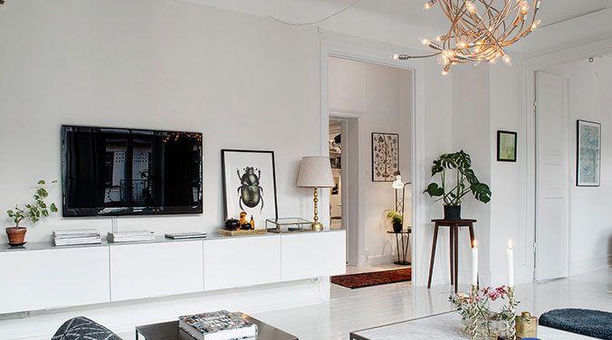 decoracion pisos alquiler Casa Pinterest Tv walls Living