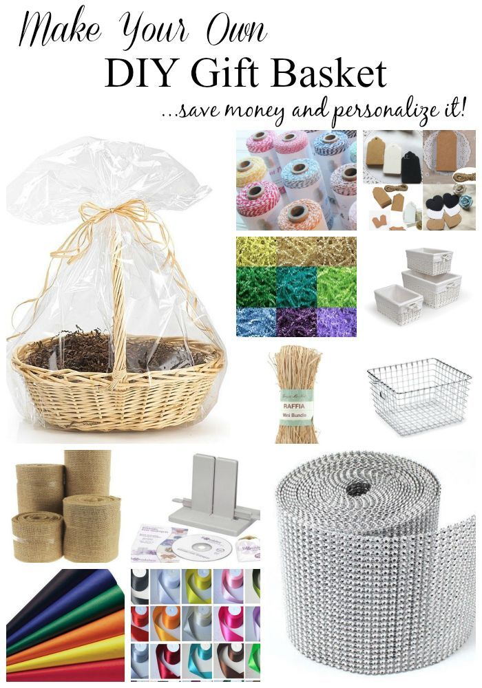 Make your own DIY Gift Basket and personalize it for holidays and celebrations! Making your  sc 1 st  Pinterest & Make Your Own DIY Gift Basket | Your Best DIY Projects | Canasta de ...