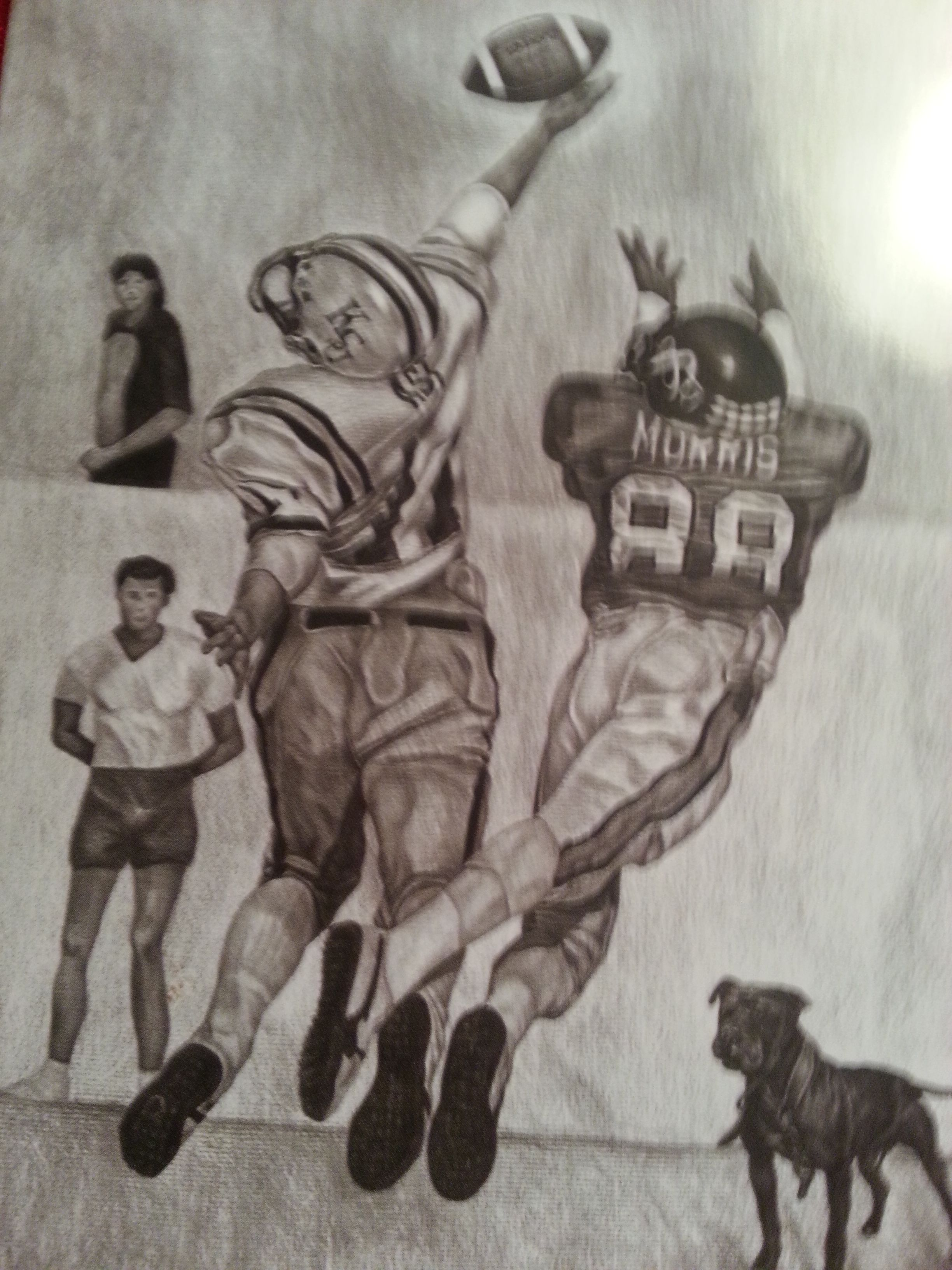 Football greeting card mans good friend is an original pencil football greeting card mans good friend is an original pencil drawing by charles duke kristyandbryce Images
