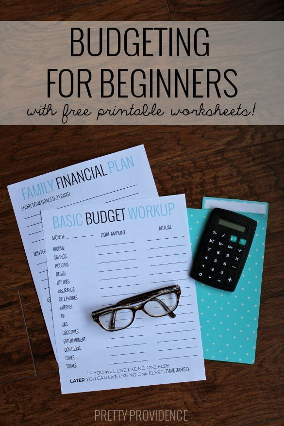 Basic Budgeting with free worksheets to get you started! Pinterest