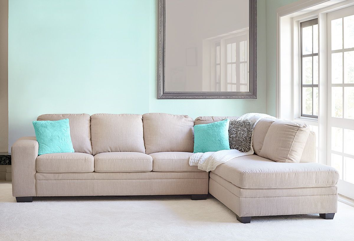 chaise sofa lounge perth cushion support for modular and kelsey 3 seater rhf fabric