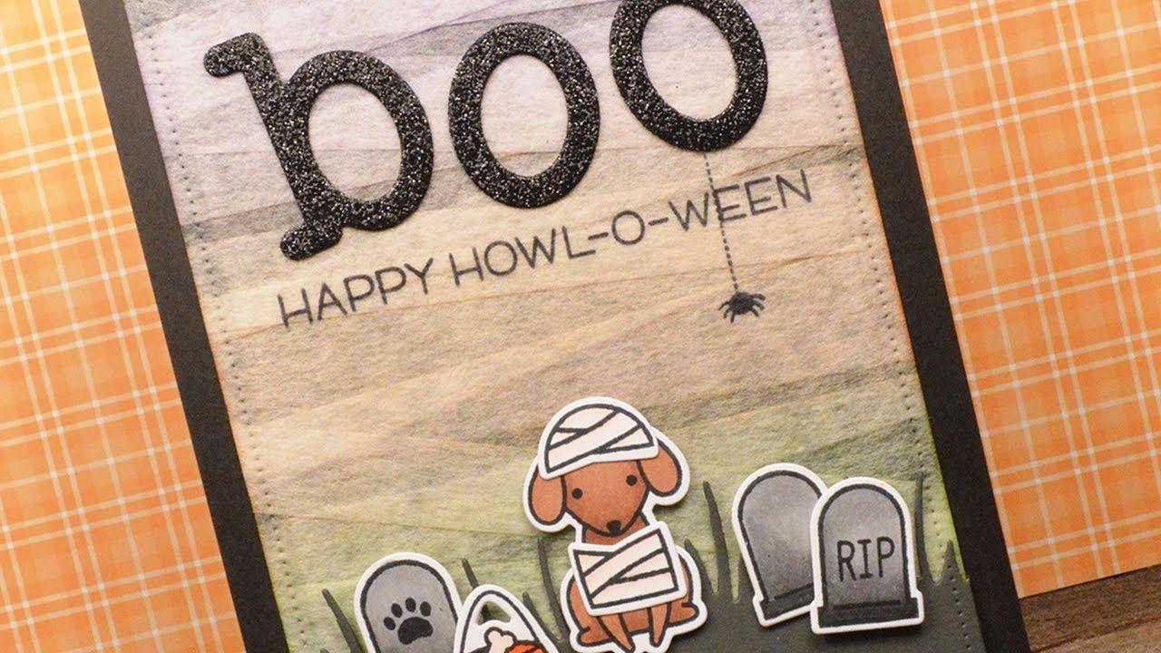 How to make a mummy Halloween card